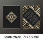 vector cards. art deco style.... | Shutterstock .eps vector #711779500