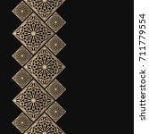 golden frame in oriental style. ... | Shutterstock .eps vector #711779554