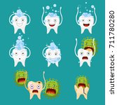 set of cute tooth. | Shutterstock .eps vector #711780280
