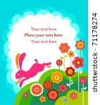Running Easter Bunny Card With...