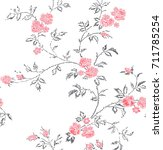 cute floral pattern in the... | Shutterstock .eps vector #711785254