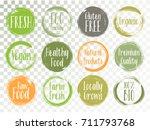 vector organic labels  bio... | Shutterstock .eps vector #711793768