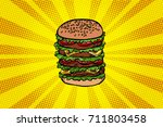 big burger fast food. pop art...
