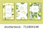 hand drawn watercolor banner... | Shutterstock . vector #711804148