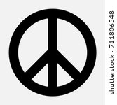 peace sign  black isolated icon ... | Shutterstock .eps vector #711806548