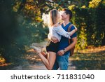 young and in love  | Shutterstock . vector #711831040