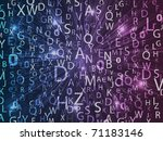 neon colorful letters. vector... | Shutterstock .eps vector #71183146