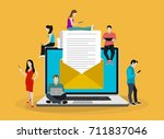email marketing  internet... | Shutterstock .eps vector #711837046
