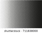 abstract monochrome halftone... | Shutterstock .eps vector #711838000