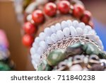 gemstone necklaces and... | Shutterstock . vector #711840238