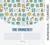 time management concept with...   Shutterstock .eps vector #711840280