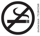 no smoking sign | Shutterstock .eps vector #711842368
