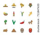 mexico icon set | Shutterstock .eps vector #711847633