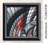 3d rendering combo artwork with ... | Shutterstock . vector #711861958