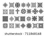 set of celtic elements   vector ... | Shutterstock .eps vector #711868168