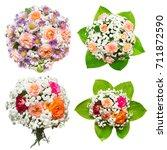 creative collection bride's... | Shutterstock . vector #711872590