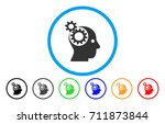 Head Gears Rounded Icon. Vecto...