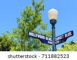 hollywood blvd sign | Shutterstock . vector #711882523