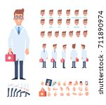 front  side  back view animated ... | Shutterstock .eps vector #711890974