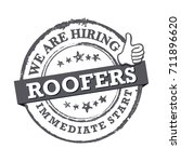 we are hiring roofers.... | Shutterstock .eps vector #711896620