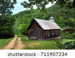 country church in the ozark... | Shutterstock . vector #711907234