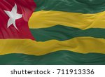 national flag of the togo... | Shutterstock . vector #711913336