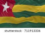 national flag of the togo... | Shutterstock . vector #711913336