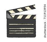 clapperboard cinema icon image   Shutterstock .eps vector #711913954