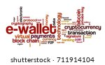 word cloud related to bitcoin ... | Shutterstock .eps vector #711914104