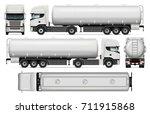 tanker truck vector mock up for ...   Shutterstock .eps vector #711915868