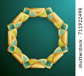 3d round abstract frame  round... | Shutterstock . vector #711922498