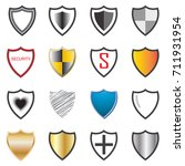 shield collection icons... | Shutterstock .eps vector #711931954