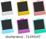 vector colorful photo frames | Shutterstock .eps vector #71194147