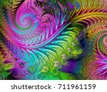 abstract shine glass...   Shutterstock . vector #711961159