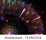 abstract bright feathering... | Shutterstock . vector #711961216