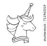 Unicorn. Text Be Awesome....