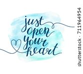 just open your heart ... | Shutterstock .eps vector #711964954