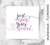 just open your heart ...   Shutterstock .eps vector #711965443