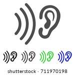 listen icon. vector... | Shutterstock .eps vector #711970198