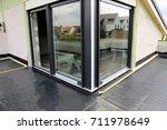 balcony waterproofing with foil | Shutterstock . vector #711978649