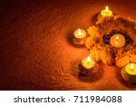 diwali decorations with... | Shutterstock . vector #711984088