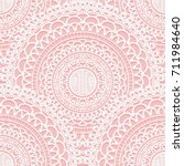 seamless pattern from lace... | Shutterstock .eps vector #711984640