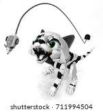 Robotic Kitten Mouth Open...