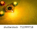 diwali decorations with... | Shutterstock . vector #711999718