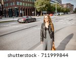 lifestyle portrait of a young... | Shutterstock . vector #711999844