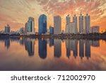bangkok city downtown  bangkok... | Shutterstock . vector #712002970