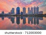 bangkok city downtown  bangkok... | Shutterstock . vector #712003000