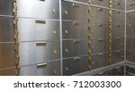 safe deposit boxes in a bank | Shutterstock . vector #712003300