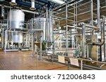 production of beer  steel... | Shutterstock . vector #712006843