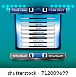 scoreboard broadcast graphic... | Shutterstock .eps vector #712009699